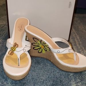 Coach NWB bumble bee wedge platforms